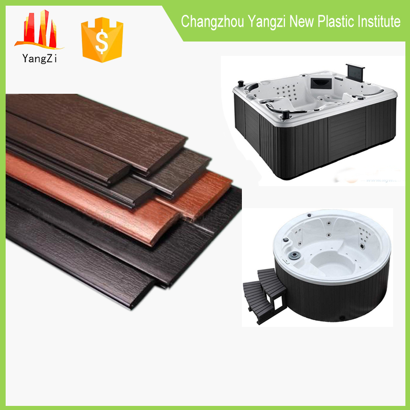 Hot tub PS plastic material synthetic wood skirts panels