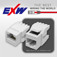 RJ45 8p8c cat6 UTP Keystone Jack 180 degree, 110 krone punch down type