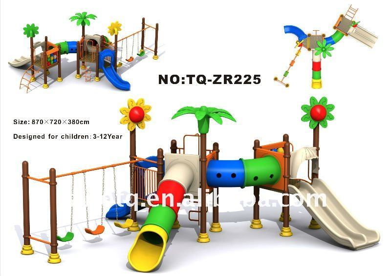 2015 Lovely Children School Playgrounds Equipment, swing set ,TQ-ZR225