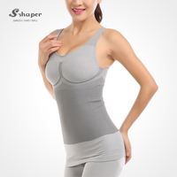 S-SHAPER Tourmaline Bamboo Bodysuit Bamboo Tank Top And Bamboo Short