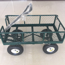 Four wheel garden mesh hand tool cart
