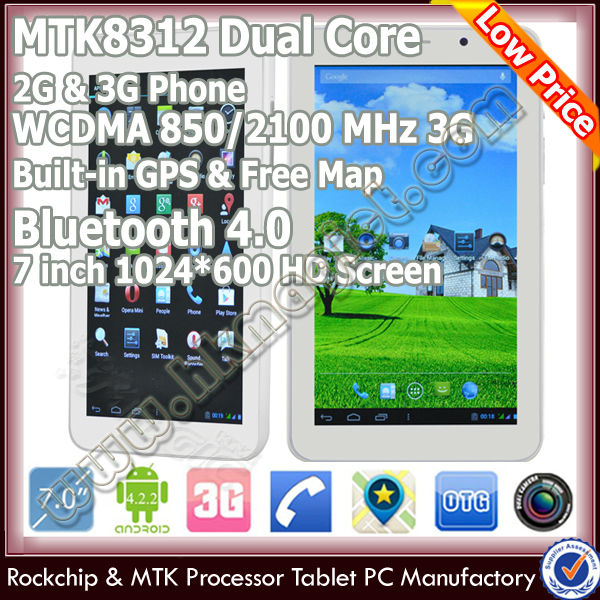 cheap 7 inch 2 Core 1.2GHz Android 4.2 MID 8G