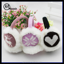 Morewin Amazon supplier hot sale earmuffs winter adjustable ears protection cold ear warmer winter knitted ear muffs