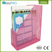 Custom Colors Metal Mesh Office Desktop Document & File Organizer Rack / Magazine Holder
