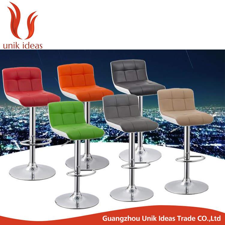 High Quality Adjustable Modern Bar Chair Price Pu Leather Bar Stool
