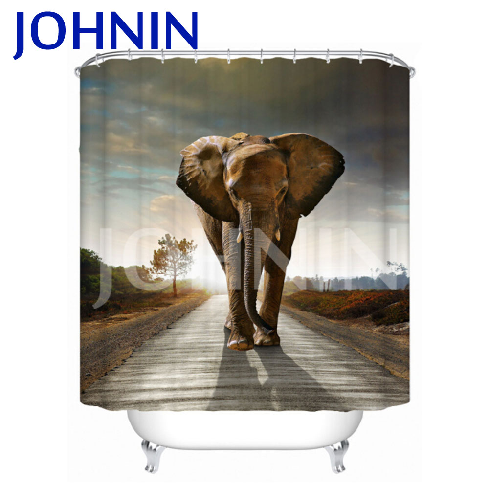 Custom printed shower curtains - Wholesale Bath Mildrew Resistant Custom Print Fabric Shower Curtain