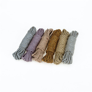 High Quality Colour Double Braided Cotton Braided Clothesline Rope Twisted Rope
