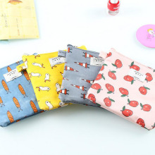New Fashion Promotional Canvas Cosmetic Makeup Pouch Case Bag