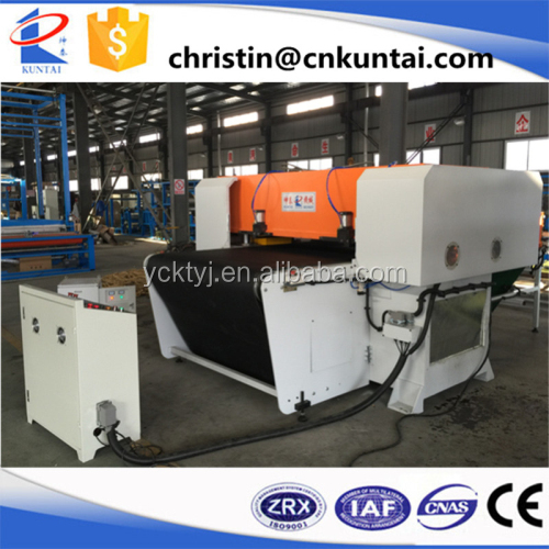 PLC Auto feeding four column hydraulic plane carpet tile cutting machine