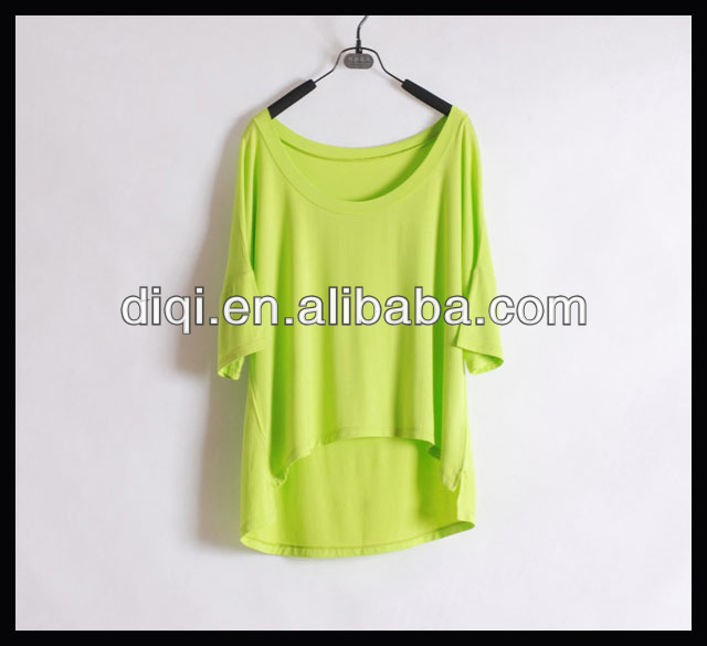 2013 ladies fashion summer style loose fit polo t-shirts soft t-shirts blank t-shirts