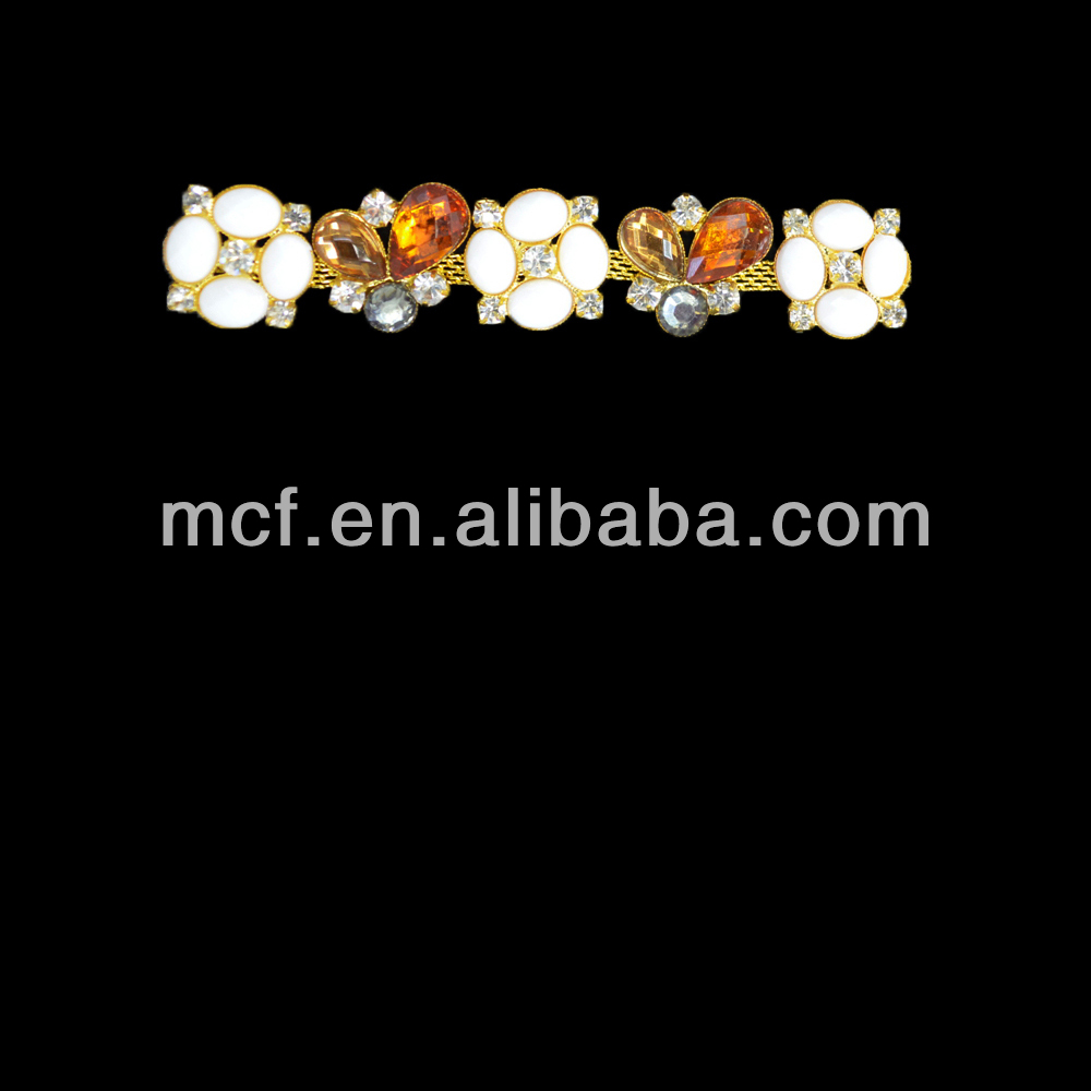bling bling decorative rhinestone lace trim/pearl and rhinestone trimmings MCT-0017