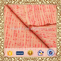 candy stripe eyelash yarn fabric for lady coat