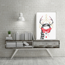 Sex Woman with butterfly picture combined canvas printing wall art painting for home decor factory price drop ship