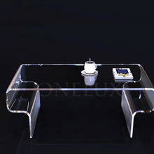 High Transparency Acrylic coffee tea table/<strong>furniture</strong> for tv for living room