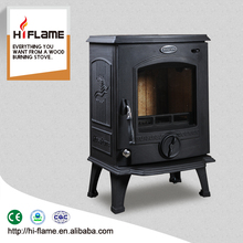 CE certificate HiFlame freestanding wood burning stove cast iron coal stove HF317