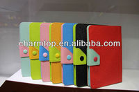 Multi Color Leather Wallet Case For iPad Mini