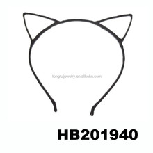 assorted black cat animal ear metal wire headband wholesale