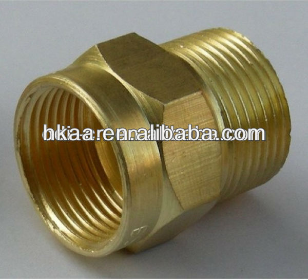 ISO OEM cnc turning parts brass threaded male female bushing,brass male bush