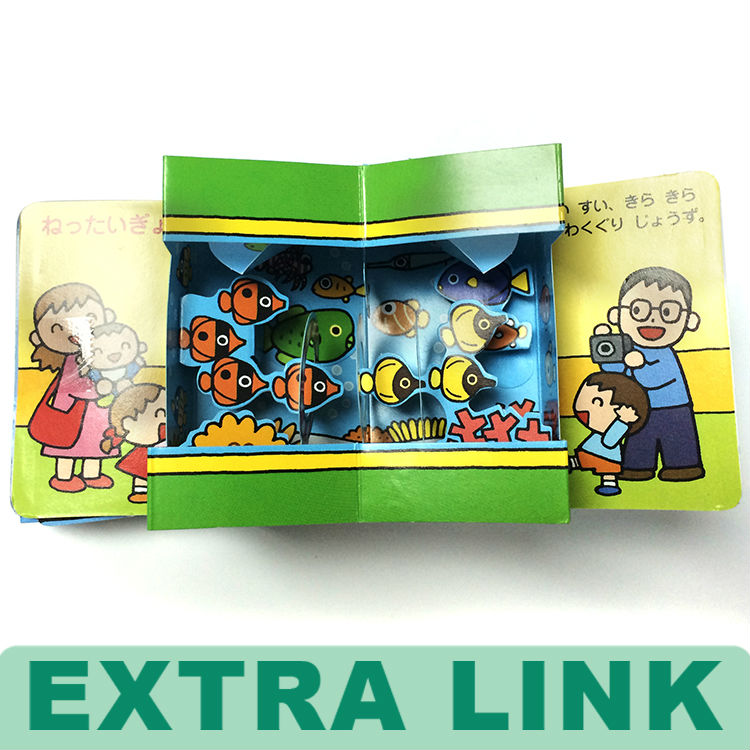 Top Quality Paper Board 3d Children Book Printing / Hardcover Pop Up Book