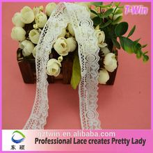 New fashion style elastic silver lace trim with flower design for sale