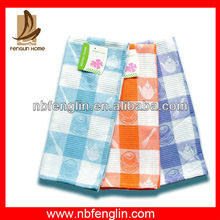 Quick-Drying Factory Price Color Checkered Dish Washing Cloth