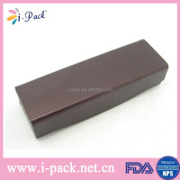 Cheap soft PU leather wine magetic handmade eyeglass case manufacturer in China