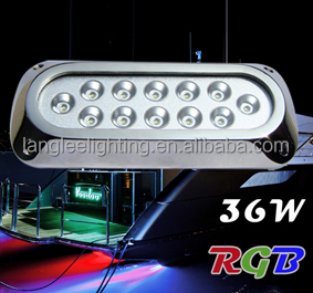 6W 12W 18W 27W 36W 54W Underwater Boat Transom Light 12VDC Yacht Below Water Lamp