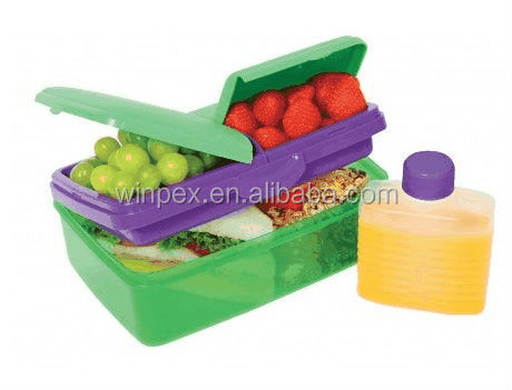 1.5L Multi compartment kids lunch box with bottle Model: 44239