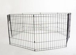 Folding metal dog kennels