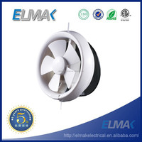 6-inch PP Round Exhaust Fan, Brass Wiring Pole Shaded Motor, Window-mounted