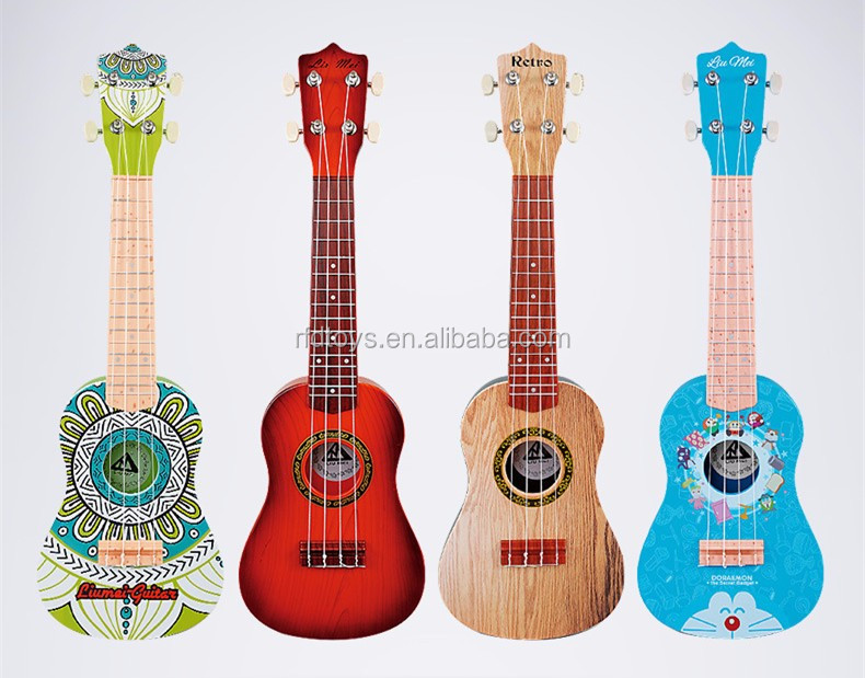 Hot selling Plastic kids toys ukulele for sale musical instruments ukulele music sets for kids