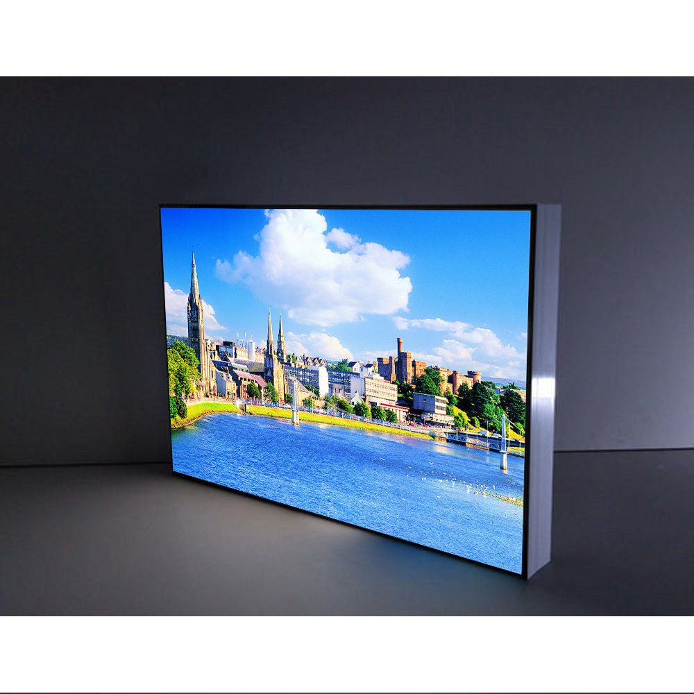 Ultra thin UV printing led aluminium frameless backlit led fabric light box for <strong>advertising</strong>