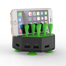 Universal 5 port multiple usb charger station fast charging wall usb charger