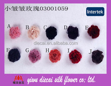 Decorative textile fabric rose flower hair accessory