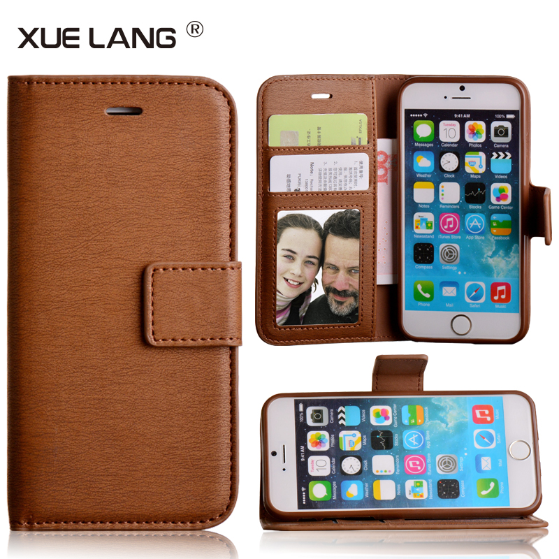 Factory smart PU leather phone case for iphone 6