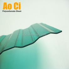 0.8mm 1.2 mm transparent corrugated polycarbonate roofing sheet for greenhouse