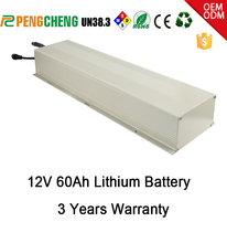 Eco friendly deep cycle chargeable 12V 60AH Lithium battery for solar street lamp