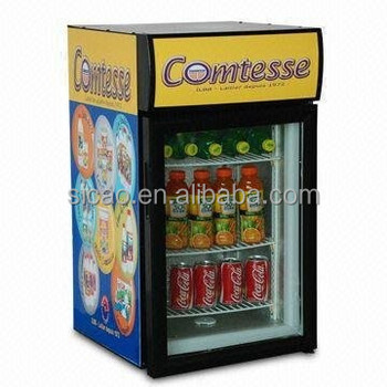 20L Soft Drinks glass door decoration table fridge