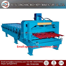 China aluminum galvanized metal glazed roof plate roll forming machine to make tiles
