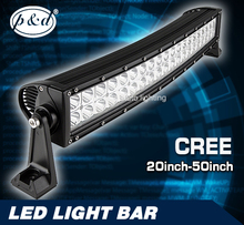 Double row aluminum housing straight or curved cree led light bar