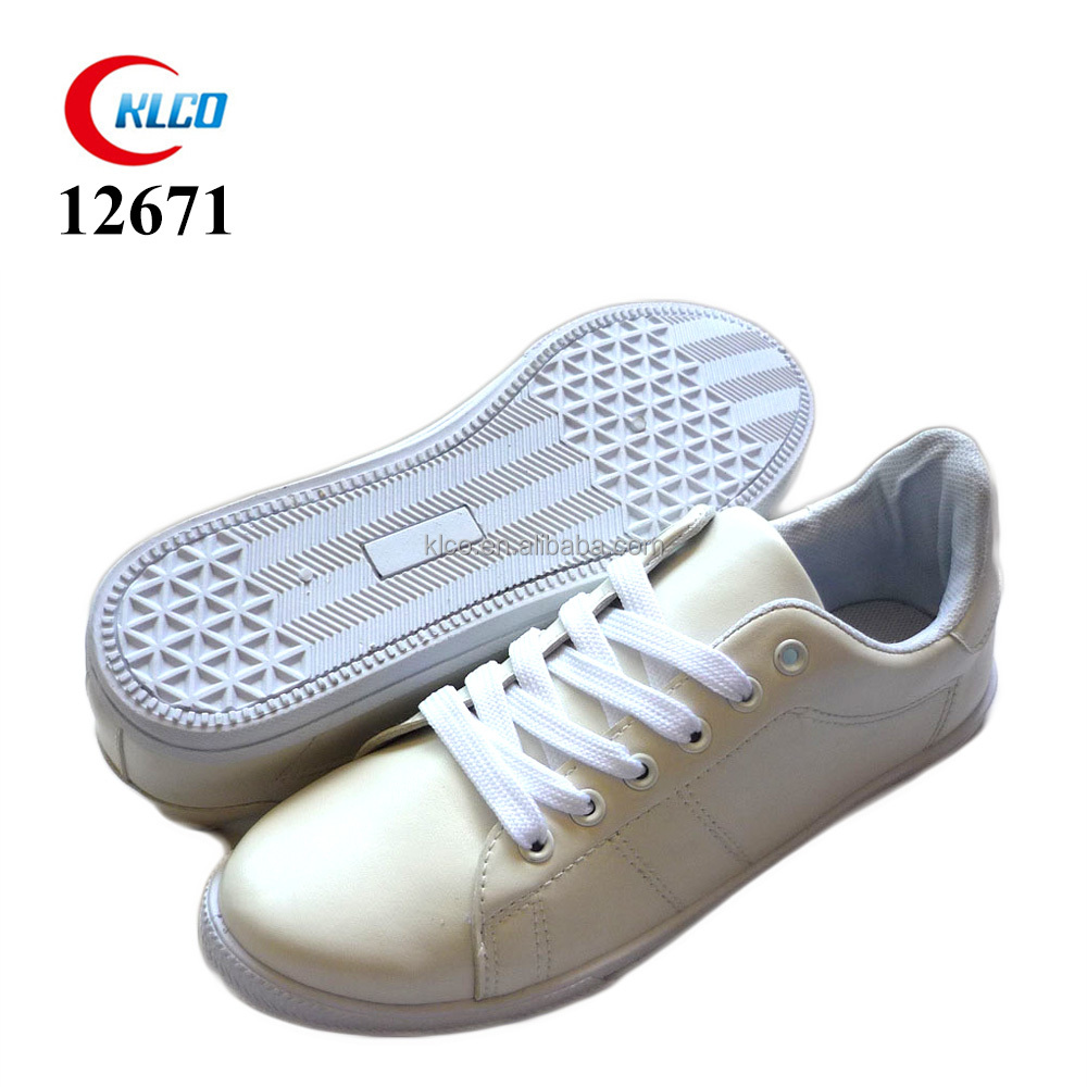 ladies white classic casual injection low flat shoes sneakers