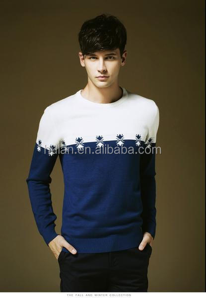 2015 hot sale roll neck jacquard men's pullover sweaters