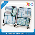 Encai Travel Clothes Packing Cube Bags 6 in 1 Floral Print Luggage Organizer Bag Set