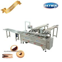 Automatic Small Cream Biscuit Sandwiching Machine With Packing Machine
