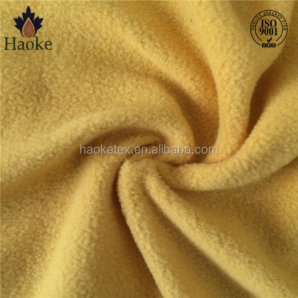 eco-friendly anti pilling one side brushed fleece fabric / brushed fabric for soft toys / wholesale toy fabric