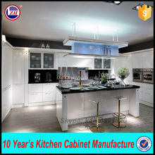 High glossy hanging kitchen cabinet simple designs with knock down packing
