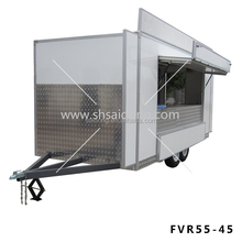customized made fiberglass street mobile food concession trailer/food van for sale