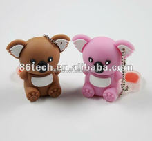 OEM and ODM Business Gift Koala USB Flash Drives With USB 2.0 CE & Rohs Memory Disk U Type Flash Drive 2 gb