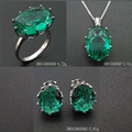 Fashion Single Stone Green Spinel Charm Sets in 925 Silver DR01506056S-G