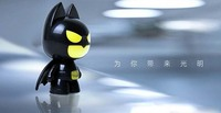Black & Yellow Creative Mini Bat USB LED Night Light